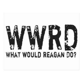 レーガンは何をしますか。 ポストカード