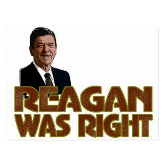 レーガンは正しかったです ポストカード