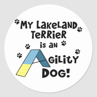レークランドテリアの敏捷犬 ラウンドシール