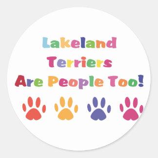 レークランドテリアは人々ですも ラウンドシール