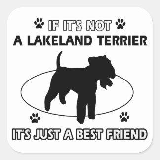 レークランドテリア犬のデザイン スクエアシール