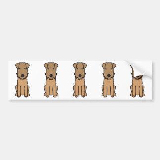 レークランドテリア犬の漫画 バンパーステッカー
