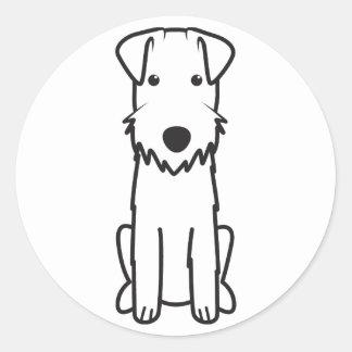 レークランドテリア犬の漫画 ラウンドシール