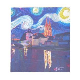 レーゲンスブルクの星明かりの夜 ノートパッド