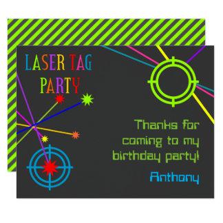 レーザーのラベルのパーティーの誕生日のサンキューカード カード