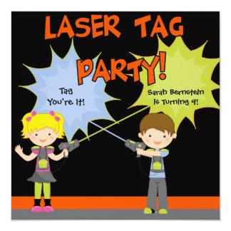 レーザーのラベルのパーティーの誕生日の招待状 カード