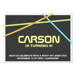 レーザーのラベルの招待 カード