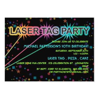 レーザーのラベルの誕生日のパーティの招待状 カード