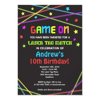レーザーのラベルの誕生日の招待状、レーザーのラベルの招待 カード
