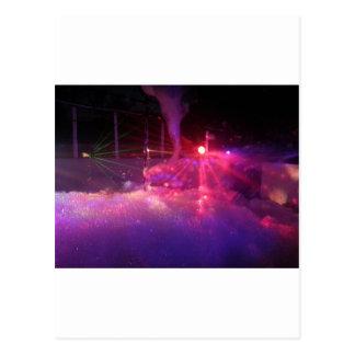 レーザーの泡のパーティーのおもしろい ポストカード