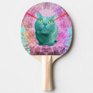 レーザーの目を持つ猫 卓球ラケット