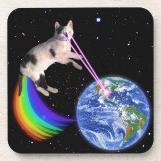 レーザーの虹の宇宙猫 コースター