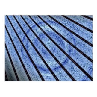 レーザーの青のフラクタル ポストカード
