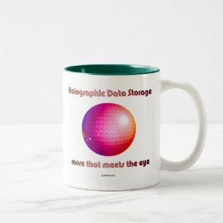 レーザー光線写真データ記憶。 目に会う多く ツートーンマグカップ