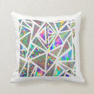 レーザー光線写真幾何学的な枕 クッション