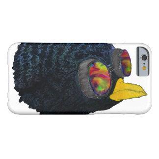 レーザー光線写真羽のSteampunkの黒い鳥のiPhone c Barely There iPhone 6 ケース