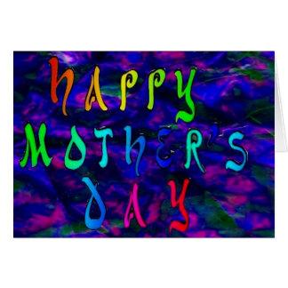 レーザー光線写真背景との幸せな母の日 カード