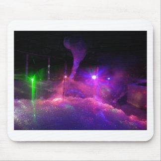 レーザー光線夜 マウスパッド