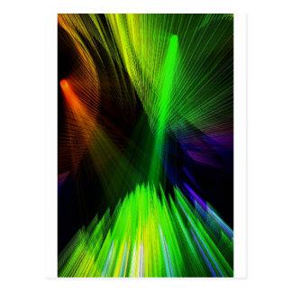 レーザー光線 ポストカード