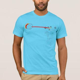 レーザー猫のバレーボールの爆発! Tシャツ