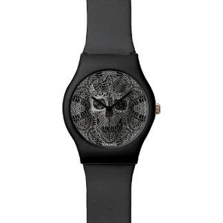 レースのスカルの腕時計 腕時計