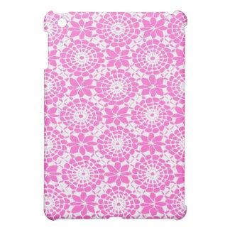 レースの円の芸術のSpeckのiPadの場合-ピンク iPad Miniケース