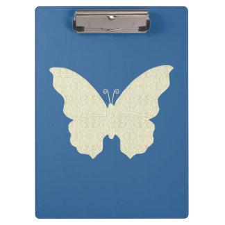 レースの蝶クリップボード クリップボード