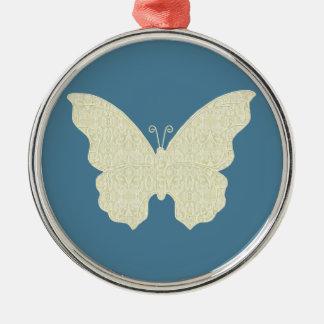 レースの蝶円形のオーナメント メタルオーナメント