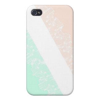 レースのMint&Pinkのガーリーなiphone 4ケース iPhone 4/4S カバー