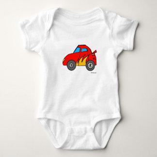 レースカーのベビー ベビーボディスーツ