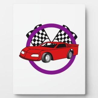 レースカーのロゴ フォトプラーク