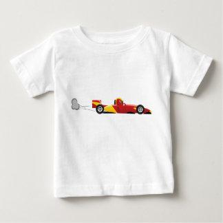 レースカーのワイシャツ ベビーTシャツ