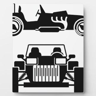 レースカーのヴィンテージ フォトプラーク