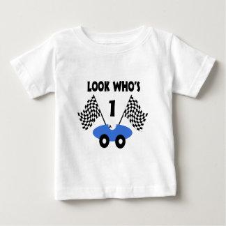 レースカーの誕生日 ベビーTシャツ