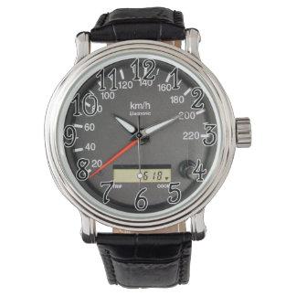 レースカーの走行距離計の腕時計 腕時計