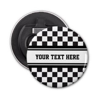 レースカーパターン + 文字及びあなたの背景色 栓抜き