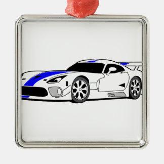 レースカー メタルオーナメント