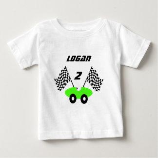 レースカーPersonalizable ベビーTシャツ