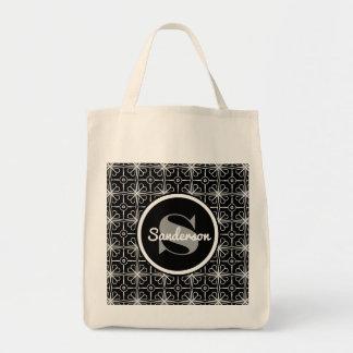 レース及びヴィンテージの優雅w/Monogramの食料雑貨 トートバッグ