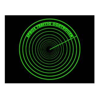 レーダーSTCの円のロゴ ポストカード