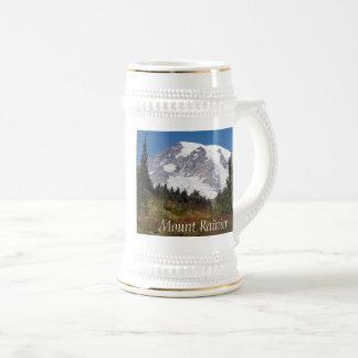 レーニア山の威厳のあるな写真 ビールジョッキ