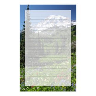 レーニア山の野生の花 便箋