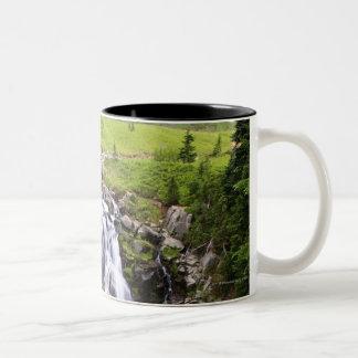 レーニア山国立公園の滝 ツートーンマグカップ