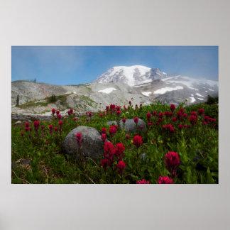 レーニア山国立公園、レーニア山1 ポスター