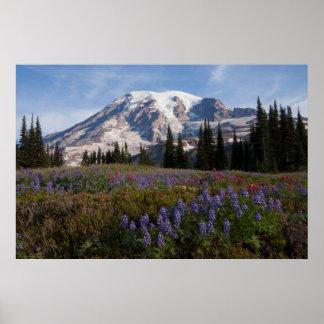 レーニア山国立公園、レーニア山3 ポスター