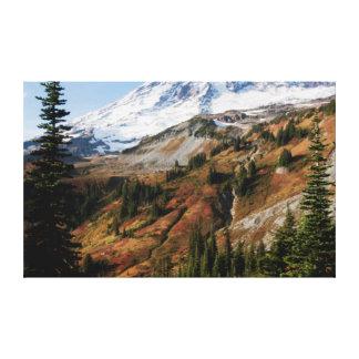 レーニア山国立公園、秋 キャンバスプリント