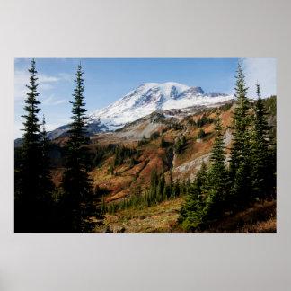 レーニア山国立公園、秋 ポスター