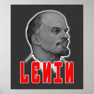 レーニンのプロフィールポスター ポスター