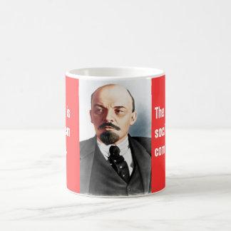 レーニンの色のポートレート コーヒーマグカップ