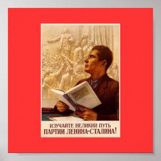 レーニンスターリンのパーティーの素晴らしい方法を調査して下さい! ポスター